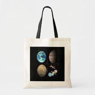 Collage de la Sistema Solar de los planetas Bolsa Tela Barata