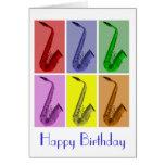Collage de la tarjeta de cumpleaños colorida de lo