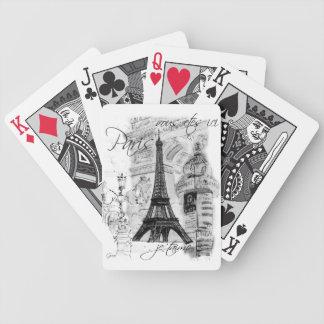 Collage de la torre Eiffel de París Barajas De Cartas