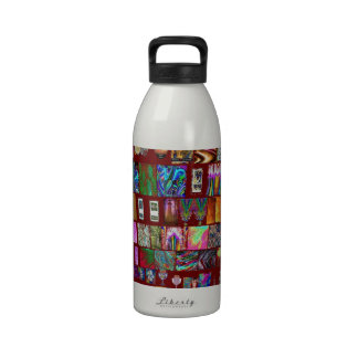 Collage de la uña del pulgar - colección artística botella de beber