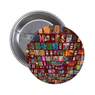 Collage de la uña del pulgar - colección artística pin redondo de 2 pulgadas