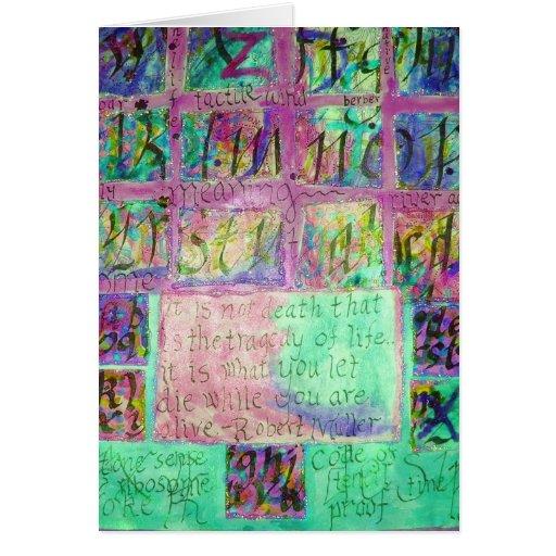Collage de la vida tarjeta de felicitación