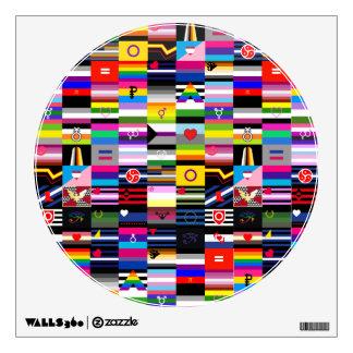 Collage de las banderas del orgullo