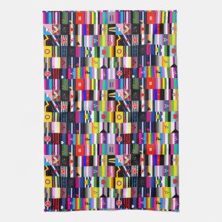 Collage de las banderas del orgullo toalla de cocina