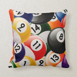Collage de las bolas de billar cojín decorativo
