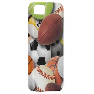 Collage de las bolas de los deportes iPhone 5 cárcasas