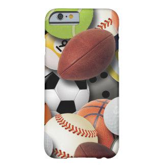 Collage de las bolas de los deportes funda de iPhone 6 barely there