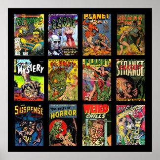 Collage de las cubiertas de cómic del poster del v