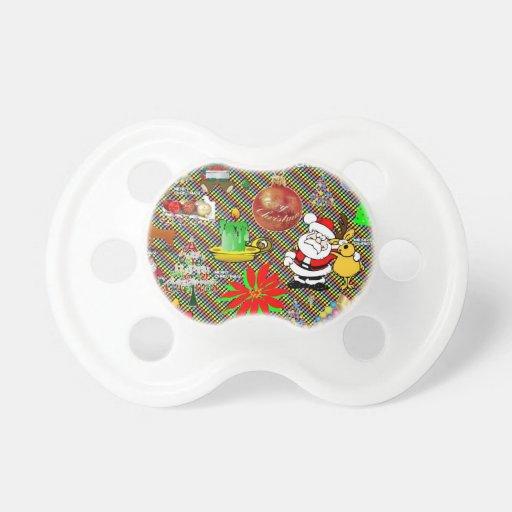 Collage de las Felices Navidad Chupetes Para Bebes