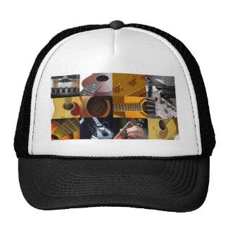 Collage de las fotos de la guitarra gorro