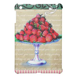 Collage de las fresas del vintage