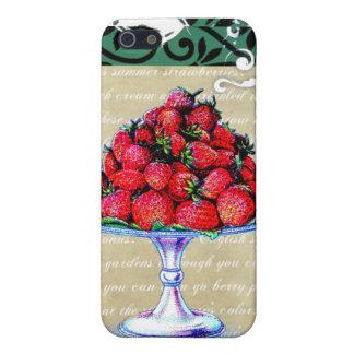 Collage de las fresas del vintage iPhone 5 protector