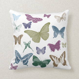 Collage de las mariposas almohada