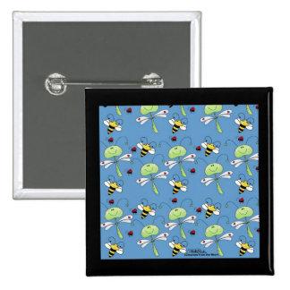Collage de las mariquitas de las abejas de las lib pin cuadrada 5 cm