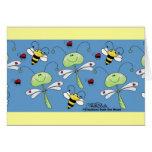 Collage de las mariquitas de las abejas de las lib tarjetas