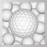 Collage de las pelotas de golf impresiones