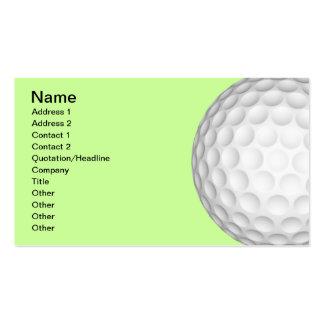 Collage de las pelotas de golf tarjetas de visita