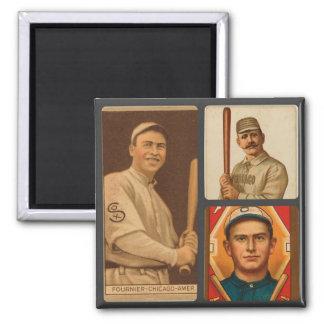 Collage de las tarjetas de béisbol de Chicago Whit Imán Cuadrado