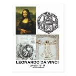 Collage de Leonardo da Vinci (colección de trabajo Postal