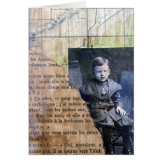 Collage de Little Boy Tarjeta De Felicitación