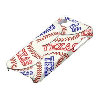 Collage de los béisboles de Tejas iPhone 5 Case-Mate Coberturas