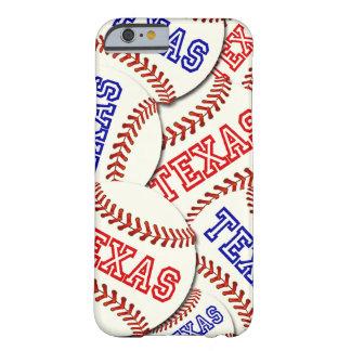 Collage de los béisboles de Tejas Funda De iPhone 6 Barely There