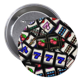 Collage de los carretes de máquina tragaperras pin redondo 7 cm