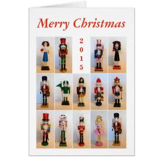 Collage de los cascanueces tarjeta de felicitación