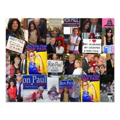 Collage de los chicas de Ron Paul Invitacion Personal