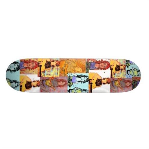 collage de los chicas del folksinger patines personalizados