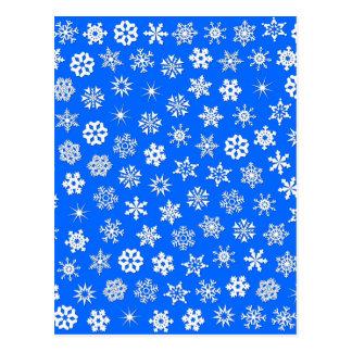 Collage de los copos de nieve tarjetas postales