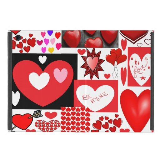Collage de los corazones iPad mini coberturas