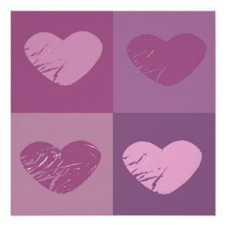 Collage de los corazones perfect poster