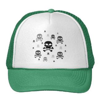 Collage de los cráneos del dibujo animado - gorras