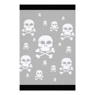 Collage de los cráneos del dibujo animado - negro  papeleria de diseño
