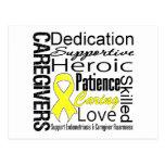 Collage de los cuidadores de la endometriosis tarjeta postal