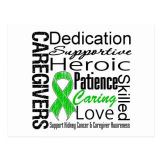 Collage de los cuidadores del cáncer del riñón postales