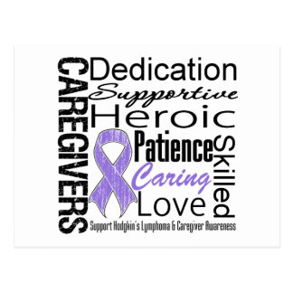 Collage de los cuidadores del linfoma de Hodgkins Postal