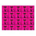 Collage de los gatos del gatito de las rosas fuert postales