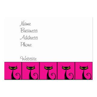 Collage de los gatos del gatito de las rosas plantilla de tarjeta personal