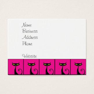 Collage de los gatos del gatito de las rosas tarjetas de visita grandes