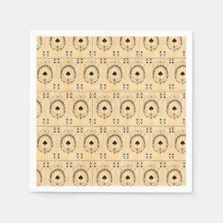 Collage de los naipes de las espadas del as del servilletas de papel