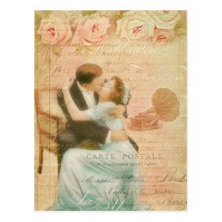 Collage de los pares del el día de San Valentín de Tarjetas Postales