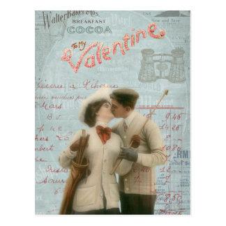 Collage de los pares del el día de San Valentín de Postales
