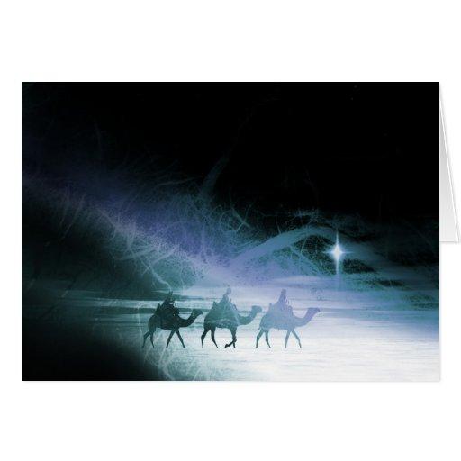 Collage de los reyes del navidad tres, colores tarjeta de felicitación