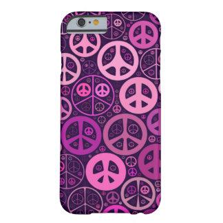 Collage de los signos de la paz funda de iPhone 6 barely there