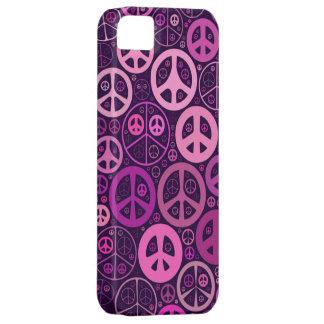 Collage de los signos de la paz iPhone 5 funda