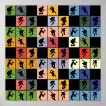 Collage de los skateres del arte pop posters