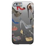 Collage de los tacones altos del zapato funda de iPhone 6 tough