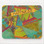 Collage de los triángulos de la felicidad tapete de raton